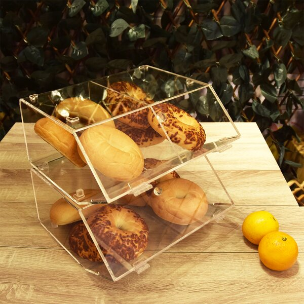 Bonnett Stackable Bakery Display Case Bread Box by Rebrilliant