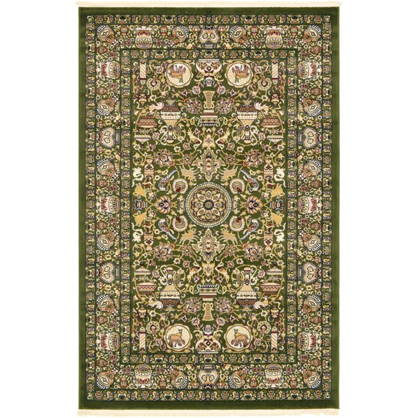 Altadena Green Area Rug by World Menagerie