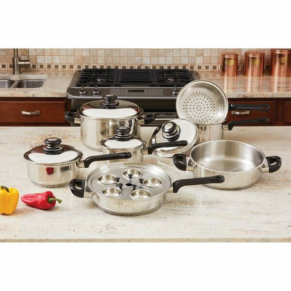 17-Piece Stainless Steel Cookware Set by Chef's Secret