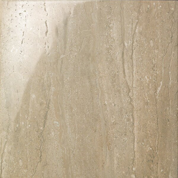 Travertini 16.75 x 16.75 Porcelain Field Tile in Polished Walnut by Samson