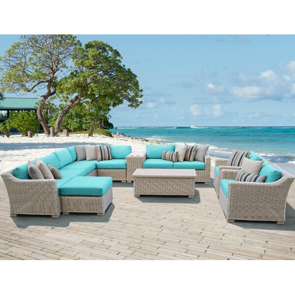 Claire 12 Piece Sectional Seating Group with Cushions by Rosecliff Heights