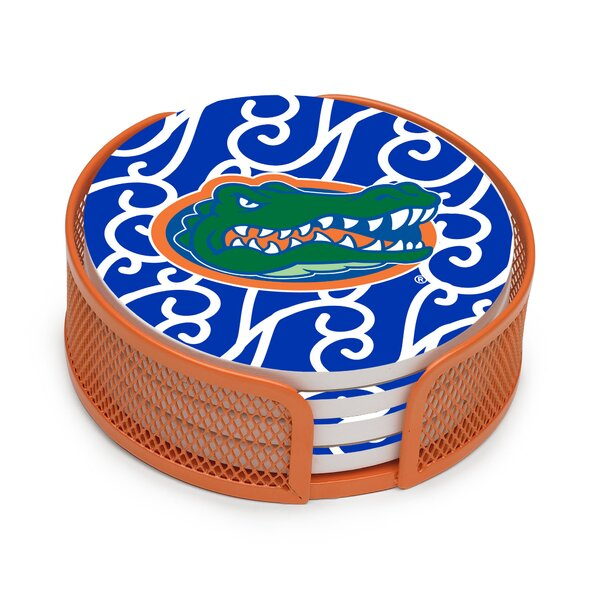 5 Piece University of Florida Swirls Collegiate Coaster Gift Set by Thirstystone