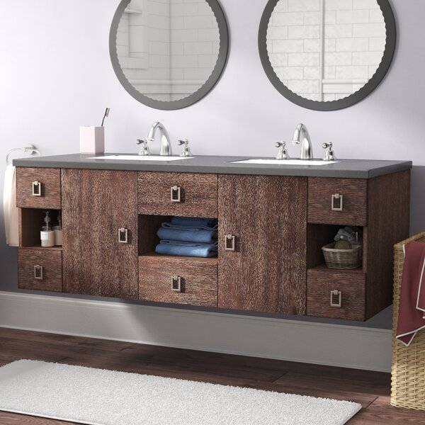Hobbs 60 Wall-Mounted Double Bathroom Vanity Set by Ivy Bronx