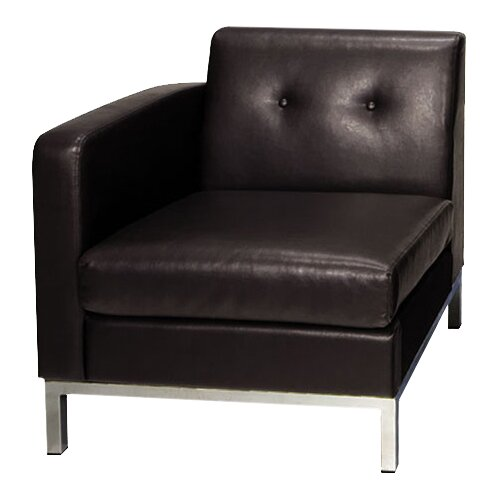 Buschwick Leather Lounge Chair by Wade Logan