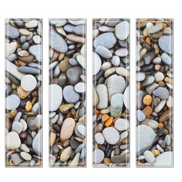 Crystal 3 x 12 Beveled Glass Subway Tile in Brown/Blue by Upscale Designs by EMA
