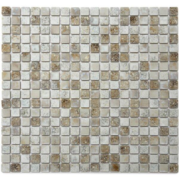 Terrene 0.6 x 0.6 Porcelain Mosaic Tile in Demeter Multi by Solistone