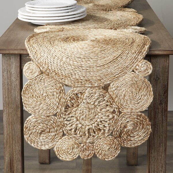 Kirk Jute Table Runner by Bungalow Rose