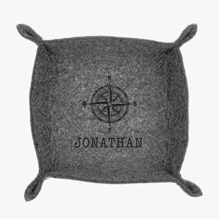 Great choice Custom Compass Personalized Felt Stash Accessory Tray By Monogramonline Inc.