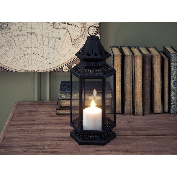 Gautam Tall Iron/Glass Lantern by World Menagerie