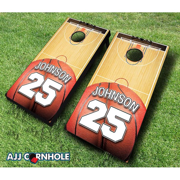 10 Piece Jersey Court Basketball Cornhole Set by AJJ Cornhole