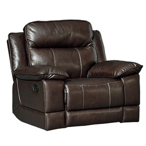 Rindham Rocker Manual Leather Recliner by Red Barrel Studio
