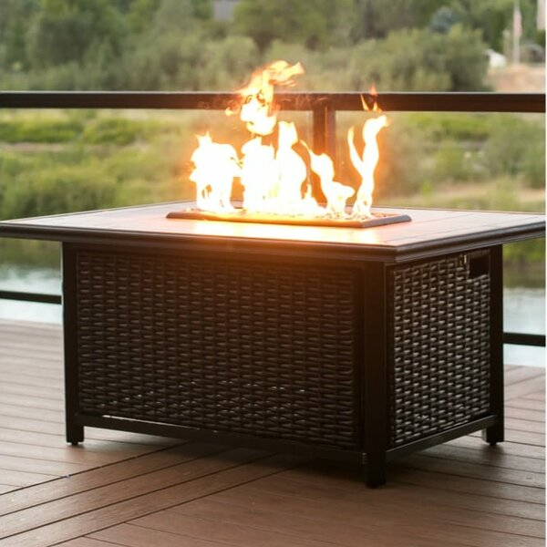 Chat Height Aluminum Gas Fire Pit Table by Tretco
