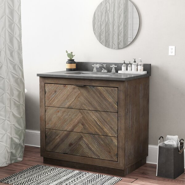 Lyla Wood 36'' Single Bathroom Vanity Set by Langley Street