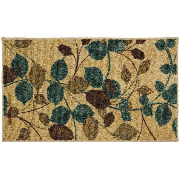 Essex Beige/Green Area Rug by Alcott Hill