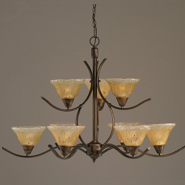 Demi 9 - Light Shaded Tiered Chandelier Tiered Chandelier By Red Barrel Studio