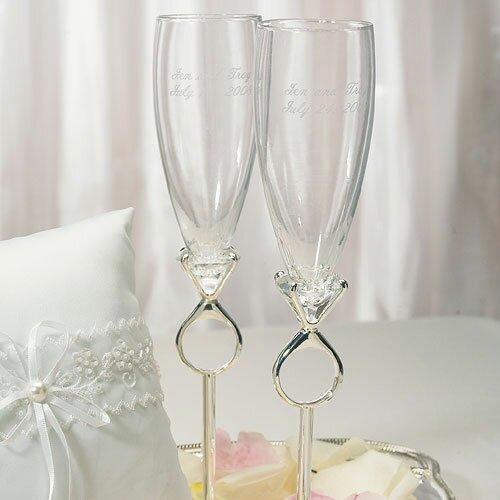 Weddingstar Wedding Toasting Champagne Flute Glass & Reviews   Wayfair