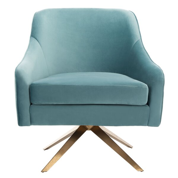 Ussery Channeled Velvet Armchair by Mercer41