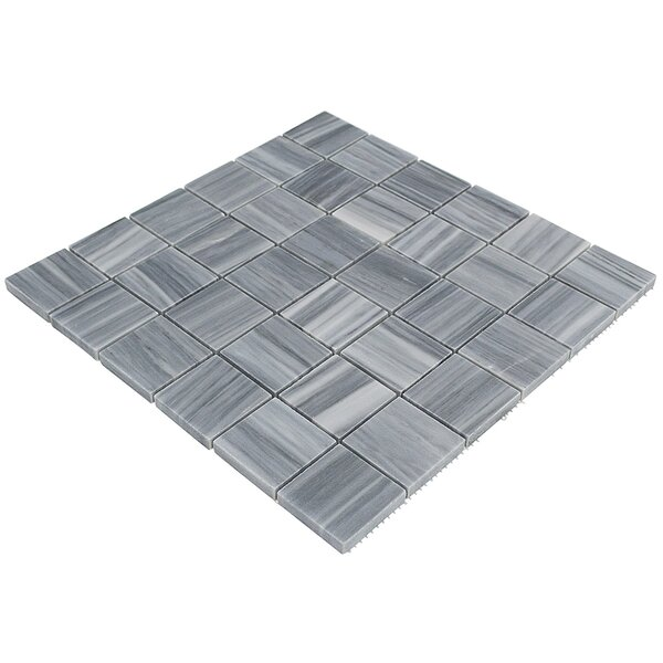 Legano Brick Joint 2 x 2 Marble Mosaic Tile in Gray by Splashback Tile