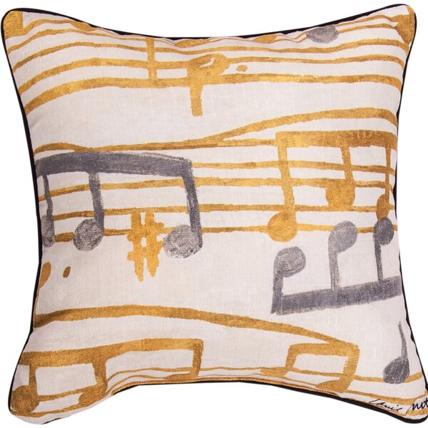 Music Stanzas II Throw Pillow by Manual Woodworkers & Weavers