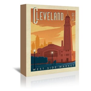 Cleveland 1002 Vintage Advertisement on Wrapped Canvas by East Urban Home