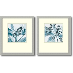 'Silver Eucalyptus' 2 Piece Framed Photographic Print Set by Andover Mills