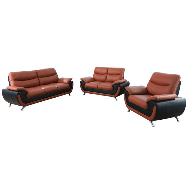 Nevarez 3 Piece Living Room Set by Orren Ellis