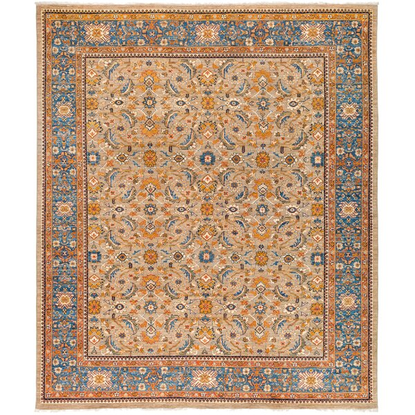 One-of-a-Kind Heimbach Hand Knotted Wool Beige Area Rug by Bloomsbury Market