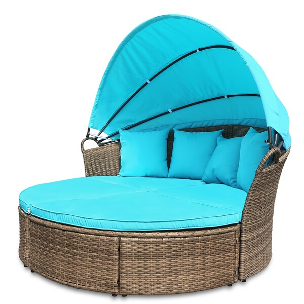 Gallo Round Patio Daybed with Cushions by Bay Isle Home
