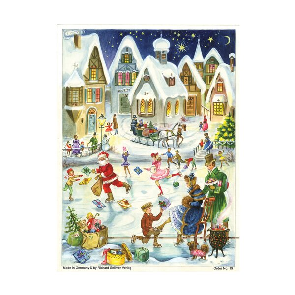 Sellmer Skating Scene Advent Calendar by The Holiday Aisle