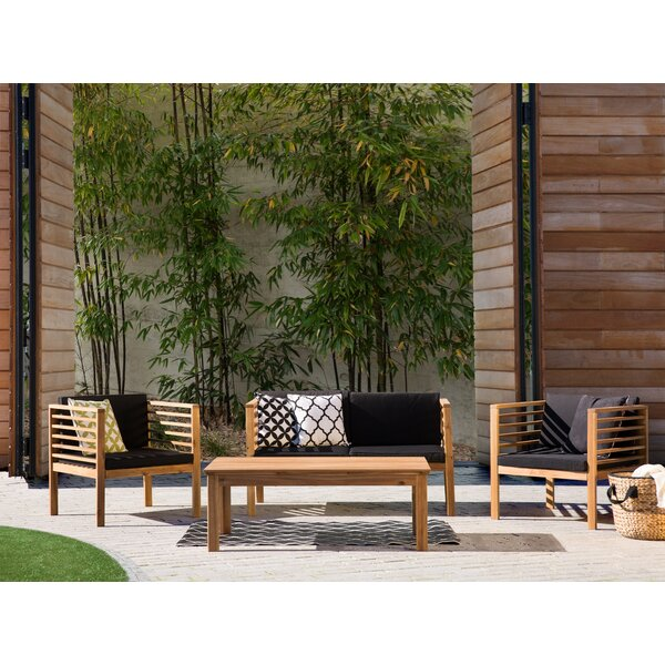 Pacific 4 Piece Sofa Seating Group with Cushions by Home Loft Concepts