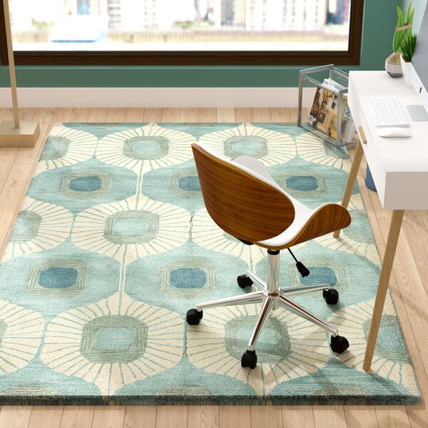 Fremont Wool Aqua Area Rug by Langley Street