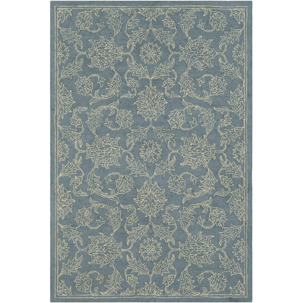 Puttney Hand Hooked Wool Denim/Khaki Area Rug by Charlton Home