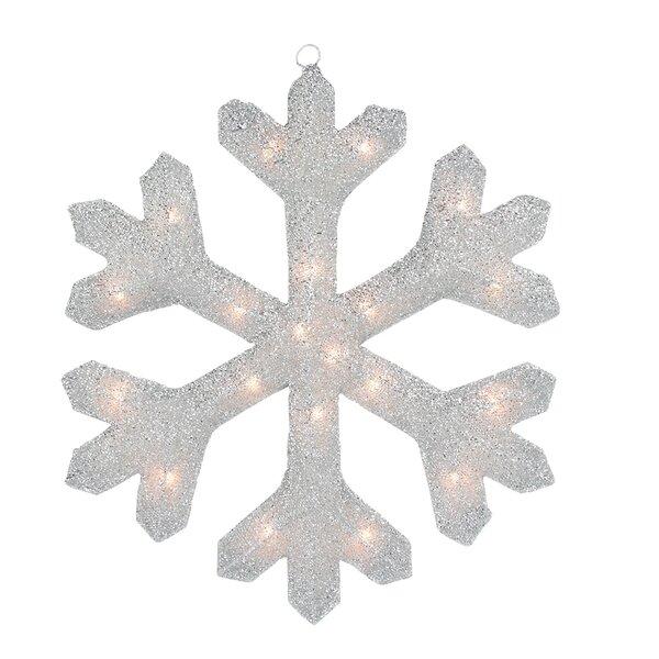 Tinsel Snowflake Christmas Window Decoration by Northlight Seasonal