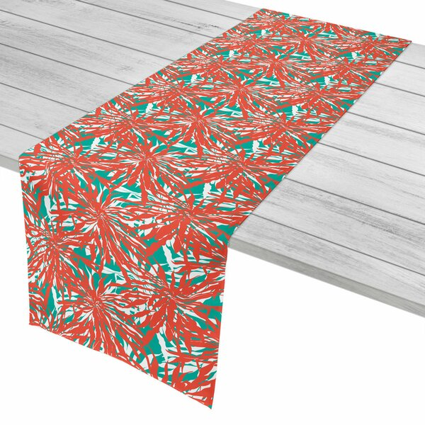 Tropical Palm Springs Coral Table Runner by Island Girl Home