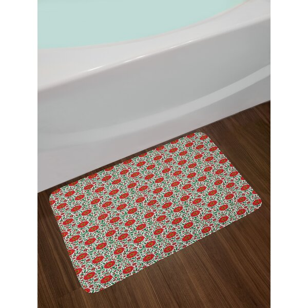 Floral Garden Art Bath Rug by East Urban Home