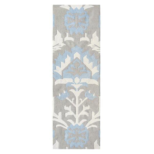 Arabelle Hand Woven Blue Mist Indoor/Outdoor Area Rug by CompanyC