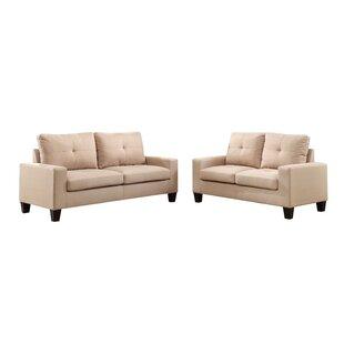 Platinum II Sofa & Loveseat In Beige Linen by Latitude Run®