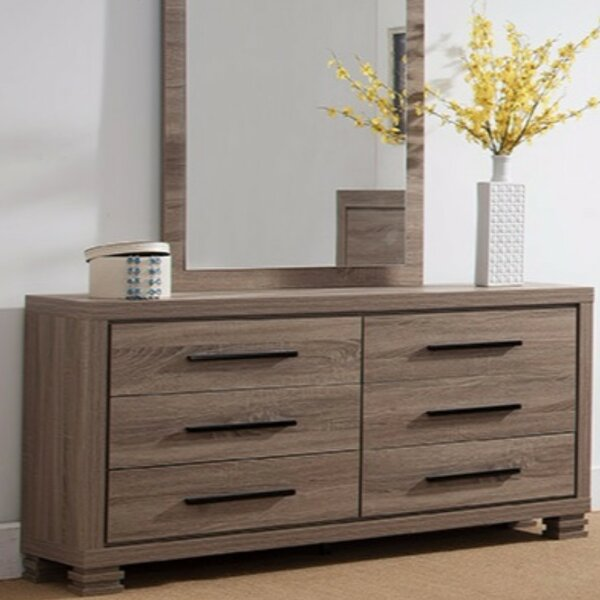 Fukuoka 6 Drawer Double Dresser by Bloomsbury Market