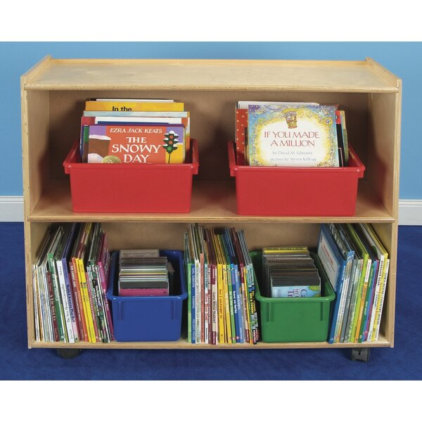 Double Sided 2 Compartment Shelving Unit with Casters by Childcraft