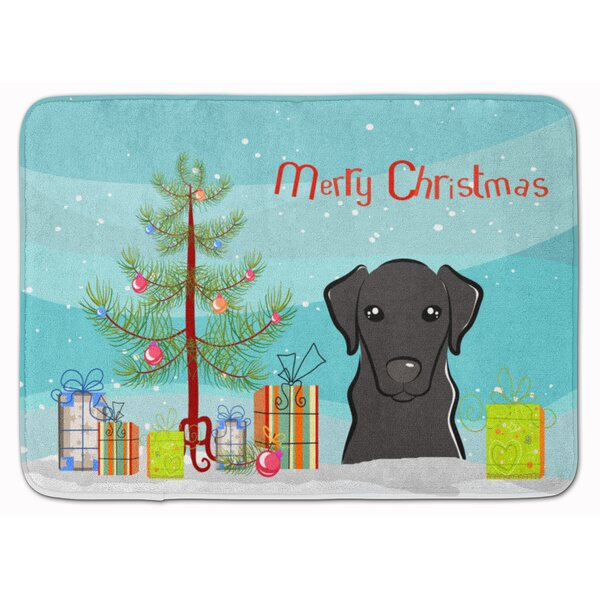 Christmas Tree and Labrador Memory Foam Bath Rug by The Holiday Aisle
