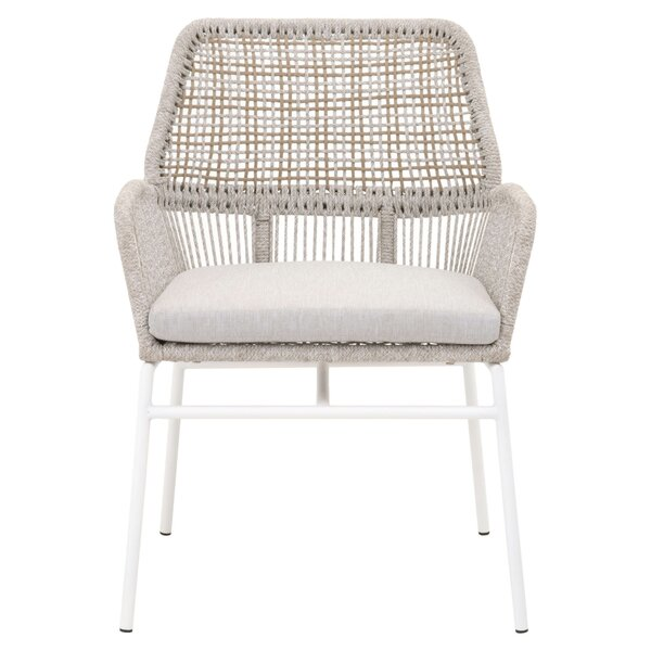 Vanhoy Knit Patio Dining Chair (Set of 2) by Bungalow Rose