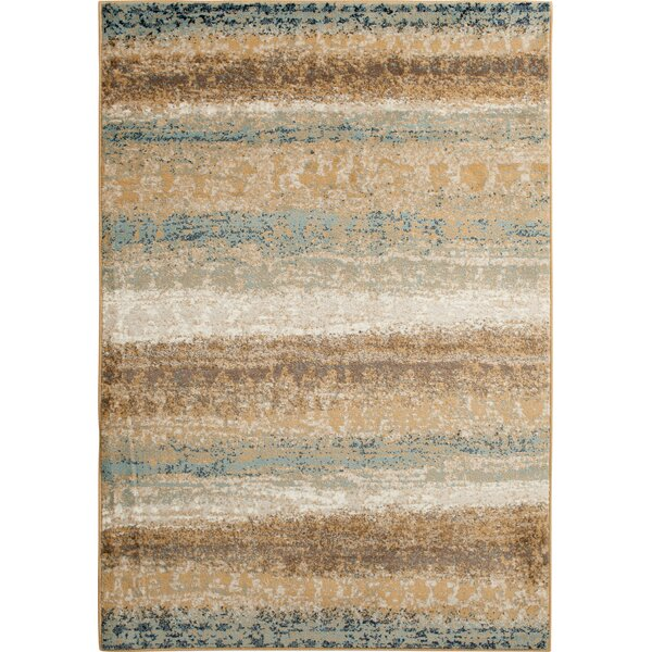 Rattlesnake Hill Celsius Gold Area Rug by Bungalow Rose