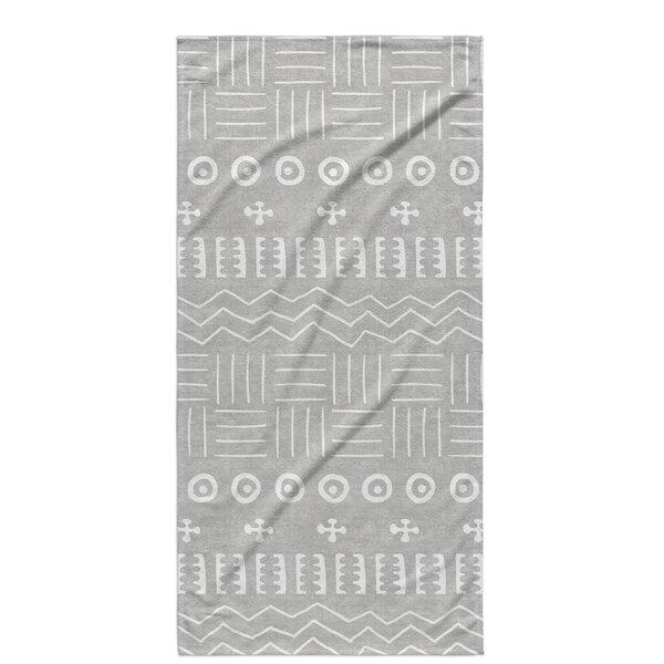 Dalton Symmetry Cloth Bath Towel with Single Sided Print by Mistana