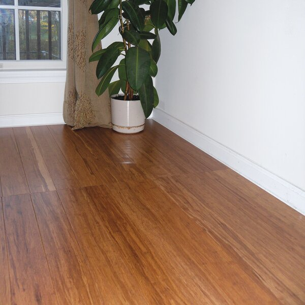 Prefinished 3-5/8 Solid Bamboo Flooring in Carbonized by Hawa Bamboo