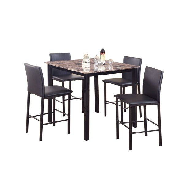 Ontiveros 5 Piece Counter Height Dining Set by Winston Porter Winston Porter