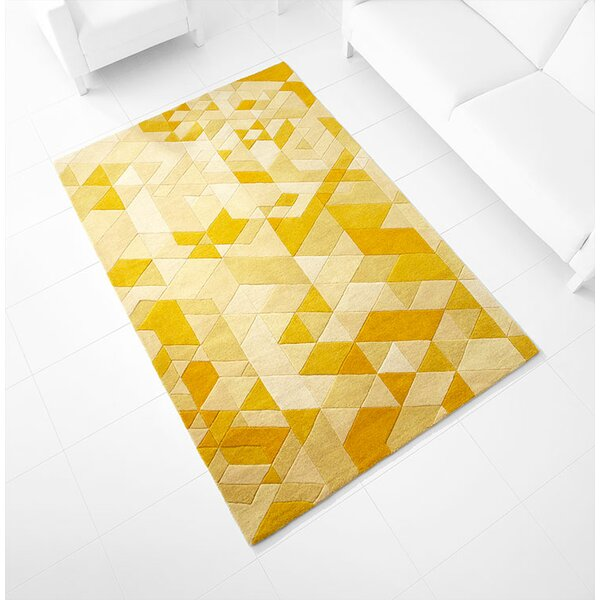 Facets Hand-Tufted Gold Area Rug by Cyan Design
