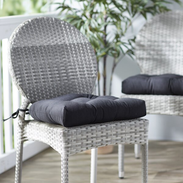 Hoban Indoor/Outdoor Dining Chair Cushion (Set of 2) by Three Posts