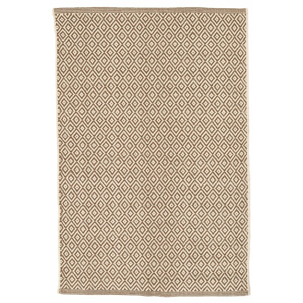 Lattice Cotton Stone Area Rug by Dash and Albert Rugs