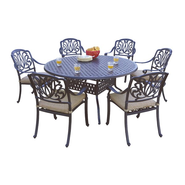 Skyloft 7 Piece Dining Set with Cushions by Astoria Grand