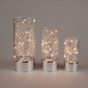 Aspasius Hurricane Jars 3 Piece Table Lamp Set (Set Of 3)